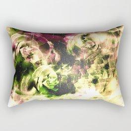 Floating Vintage Roses Rectangular Pillow
