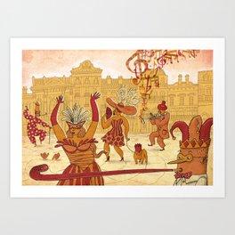 Mardi Gras! Art Print