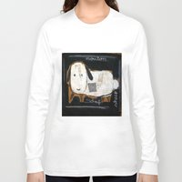 sheep Long Sleeve T-shirts featuring sheep by woman