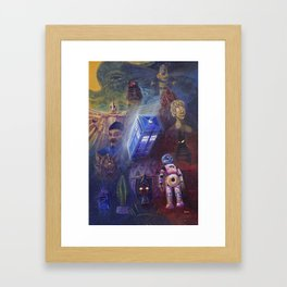 """""""13 in 50"""" a Tribute to Doctor Who Framed Art Print"""