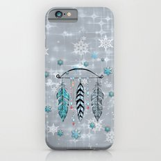 Winter Feathers and Bow iPhone 6s Slim Case