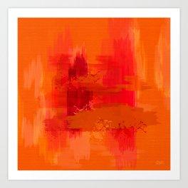 """""""Abstract Ocher Porstroke"""" Art Print"""