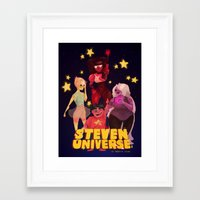 steven universe Framed Art Prints featuring Steven Universe by Jimmy Martínez