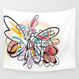 Schmetterlinge - butterflies Wall Tapestry