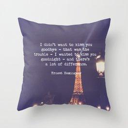 Hemingway Throw Pillow