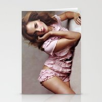 emma watson Stationery Cards featuring Emma Watson by Susan Lewis