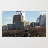 philadelphia Area & Throw Rugs featuring Philadelphia by Kristi Jacobsen Photography
