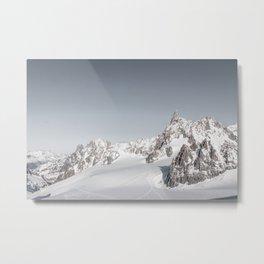 Mountain peaks - Mont Blanc serie 3 - nature panorama Metal Print