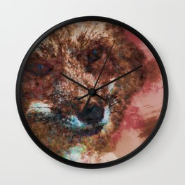 Philosophical Fox Wall Clock