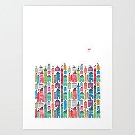 Houses and Birds Art Print