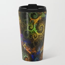Rainbow fractal Travel Mug