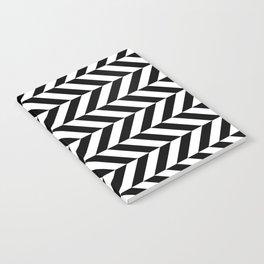 Black and White Op Art Chevron Notebook