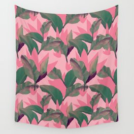 Retro Luxe Lilies Pink Wall Tapestry