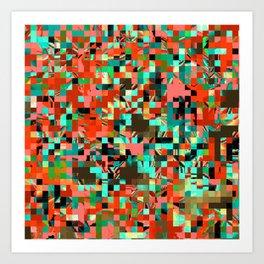 Pixelated 2 Art Print