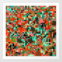 Pixelated 2 Art Print