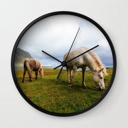 Horses 5 Wall Clock