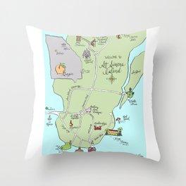 Saint Simons Island Map Throw Pillow