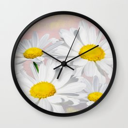 Dreaming of White Daisy Flowers Wall Clock