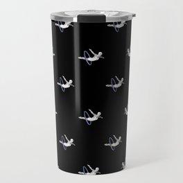 Hoop Diving - Pattern on Black Travel Mug