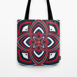 Spiral Rose Pattern B 1/4 Tote Bag