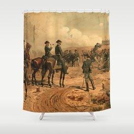 Civil War Siege of Atlanta by Thure de Thulstrup (1888) Shower Curtain
