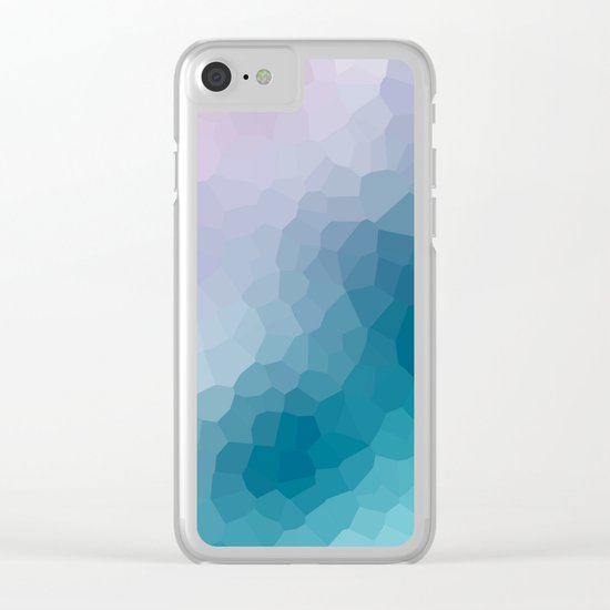 "Abstract pattern "" Amethyst "". Clear iPhone Case"