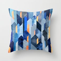 Kyanite & Salt Stone Throw Pillow