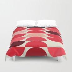 Red Bowls Duvet Cover