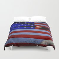 america Duvet Covers featuring America!!  by Alaskan Momma Bear