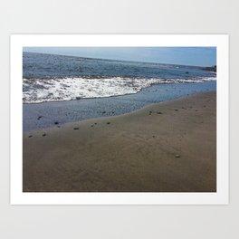 Black sand beach, El Salvador 2 Art Print