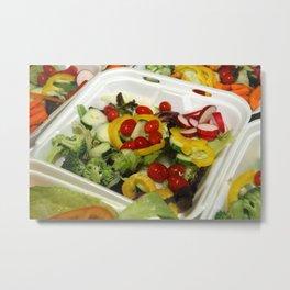 Fresh Garden Salad Metal Print