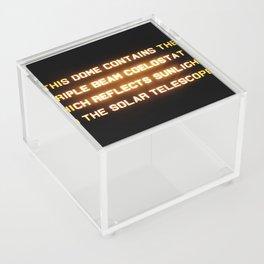 Triple Beam Coelostat Acrylic Box