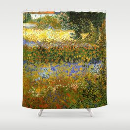 Reprint - Flowering garden - Vincent van Gogh Shower Curtain