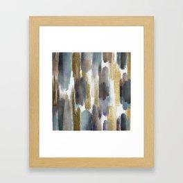 Metallic Strokes//Abstract Art Print, Painted Pattern Illustration  Framed Art Print