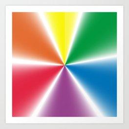 Rainbow Gradient Wheel Art Print
