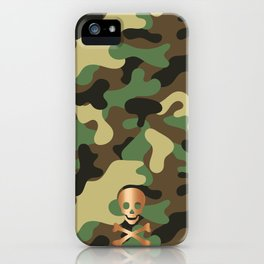 SKULL - CAMO & ROSE GOLD iPhone Case