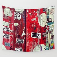 graffiti Wall Tapestries featuring Graffiti by Limmyth