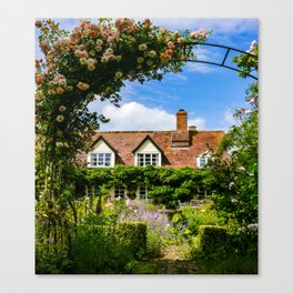 Cottage garden. v2 Canvas Print