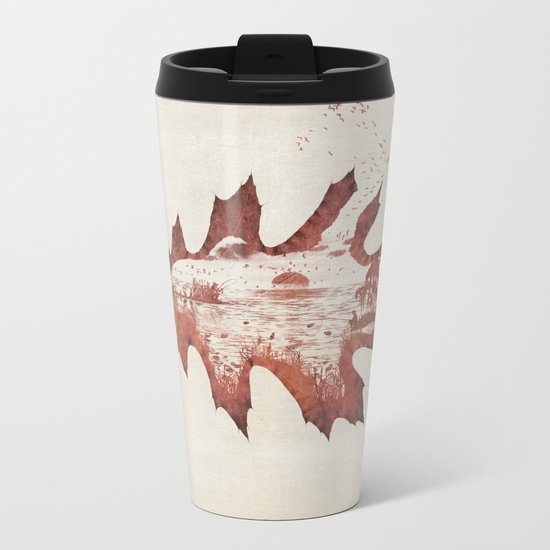 Autumn morning Metal Travel Mug