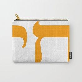 Chai חַי II (Orange) Carry-All Pouch