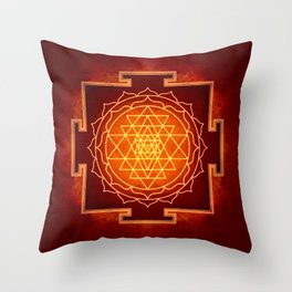Sri Yantra VIII Throw Pillow