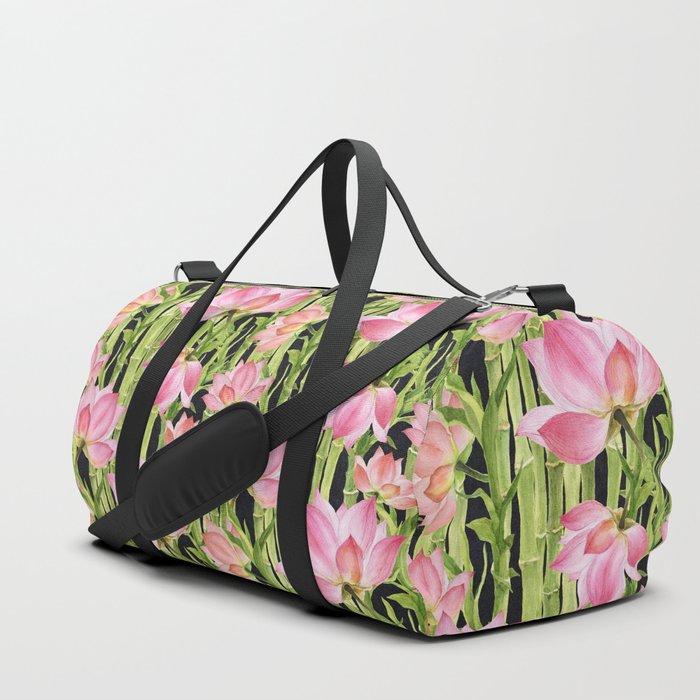 Tropical floral pattern #1 Duffle Bag