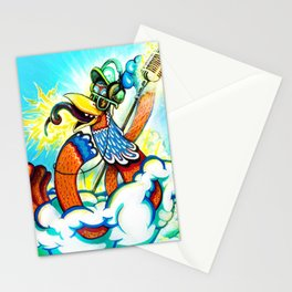 the Great DJ in the sky Stationery Cards