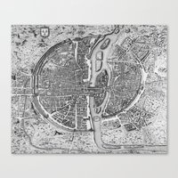 map Canvas Prints featuring Paris map  by Le petit Archiviste