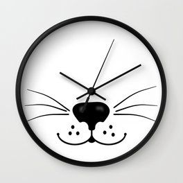 Cat Nose and Mouth Wall Clock