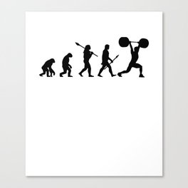 Weightlifter sport Canvas Print
