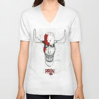 "pain V-neck T-shirts featuring ""Pain"" by Pastuv"