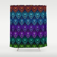 Variations on a Feather I - Deco Style Shower Curtain