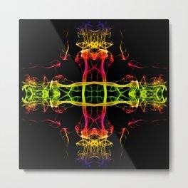 Smoke Cross 3 Metal Print