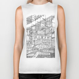 Hong Kong. Kowloon Walled City Biker Tank